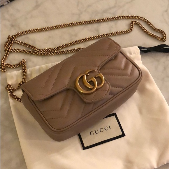 da666b394c2c Gucci Handbags - Gucci Marmont matelassé leather super mini bag